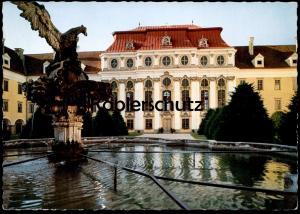 ÄLTERE POSTKARTE STIFT ST. FLORIAN OÖ. ADLERBRUNNEN MIT MAMORSAAL Brunnen fountaine fountain Adler eagle AK cpa postcard