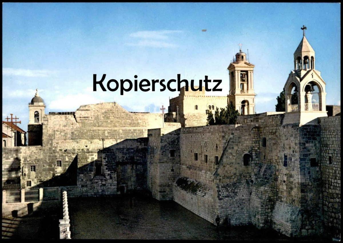 ÄLTERE POSTKARTE NATIVITY CHURCH EXTERIOR VIEW BETHLEHEM JORDAN Kirche église cpa postcard Ansichtskarte AK