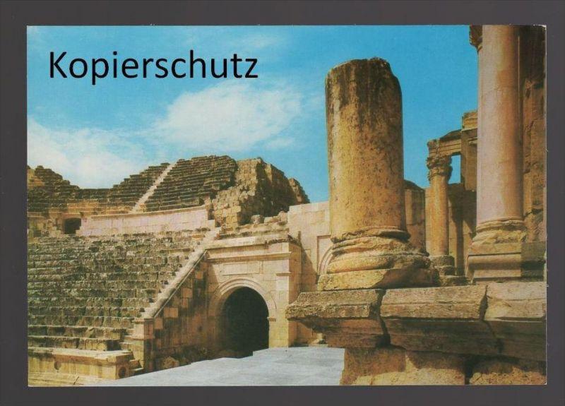ÄLTERE POSTKARTE PART OF AMPHITHEATRE OF JERASH theater theatre cpa postcard Ansichtskarte AK