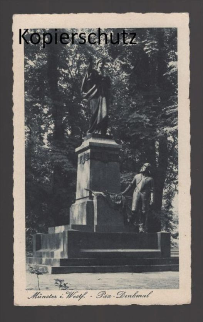 ALTE POSTKARTE MÜNSTER IN WESTFALEN PAX-DENKMAL monument AK Ansichtskarte cpa postcard