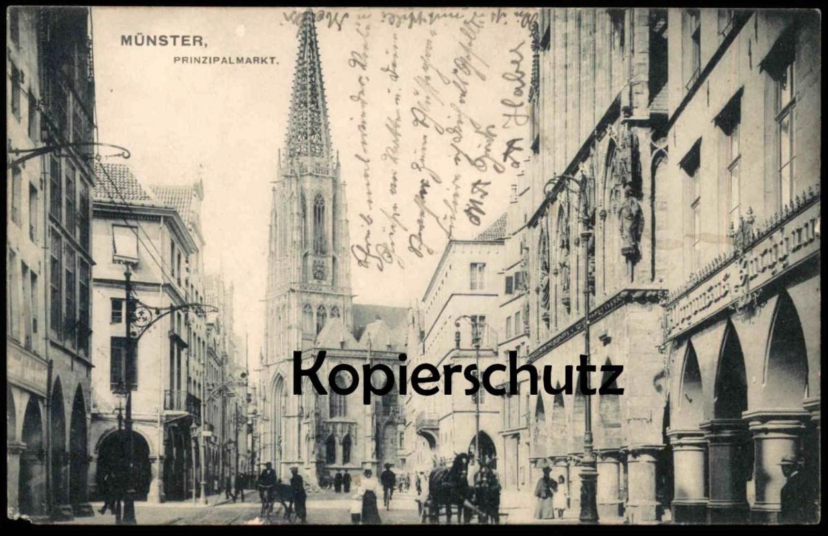 ALTE POSTKARTE MÜNSTER PRINZIPALMARKT AK Ansichtskarte cpa postcard