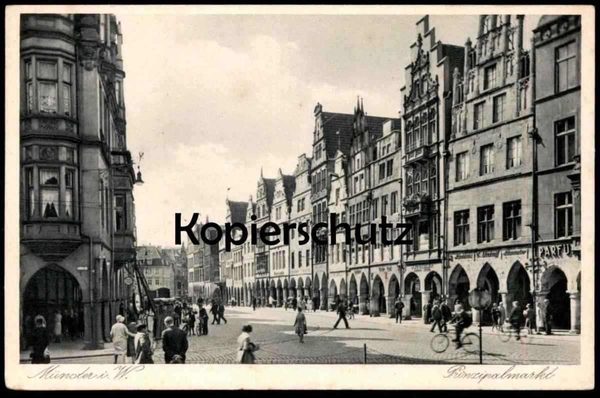 ALTE POSTKARTE MÜNSTER I. W. PRINZIPALMARKT AK Ansichtskarte cpa postcard