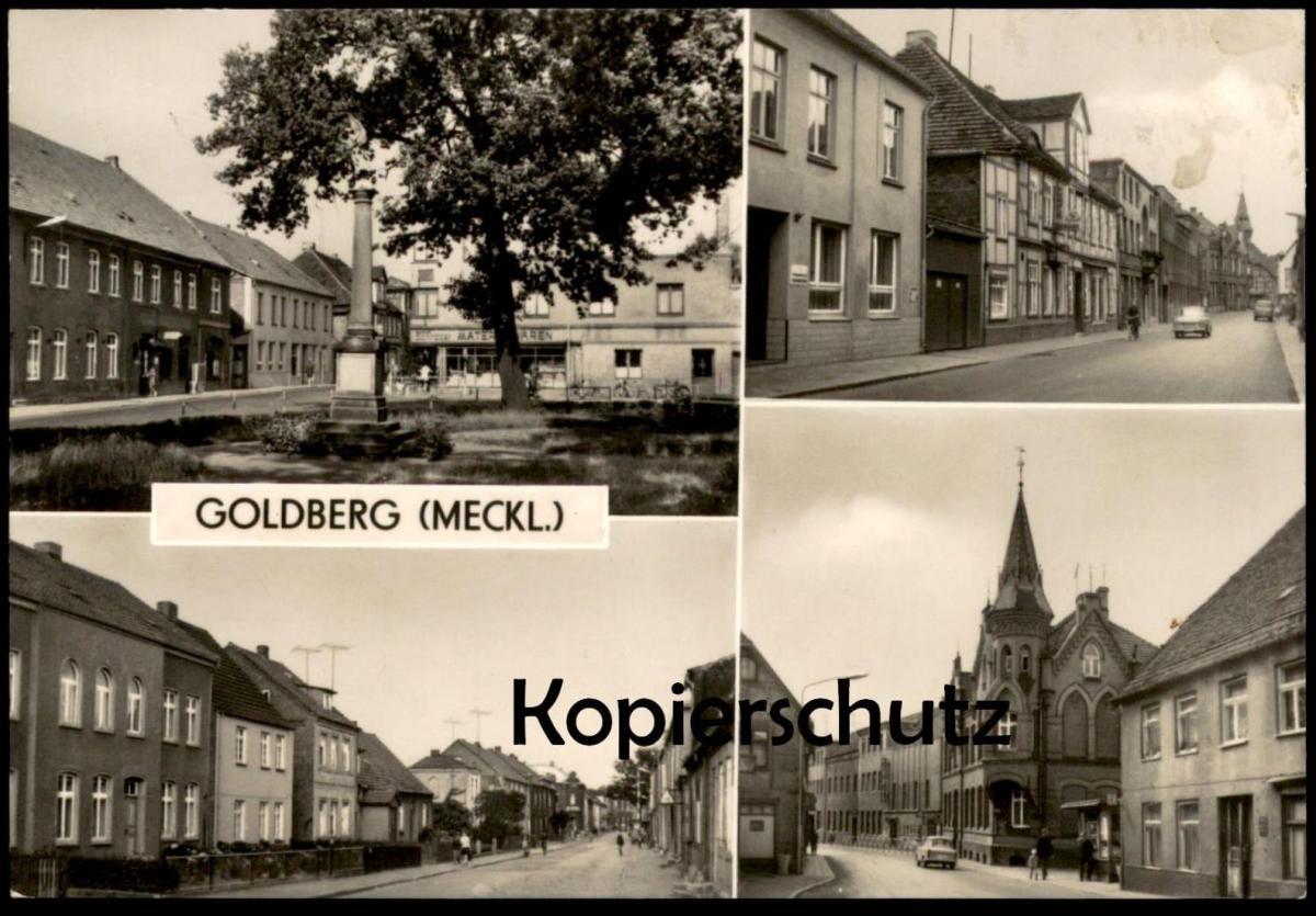 ALTE POSTKARTE GOLDBERG MECKLENBURG Ansichtskarte AK postcard cpa