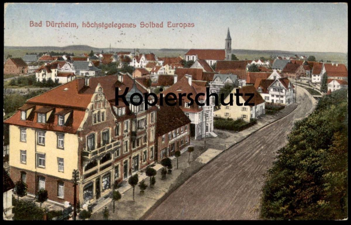 ALTE POSTKARTE BAD DÜRRHEIM HÖCHSTGELEGENES SOLBAD EUROPAS Villen Schwarzwald cpa postcard AK Ansichtskarte