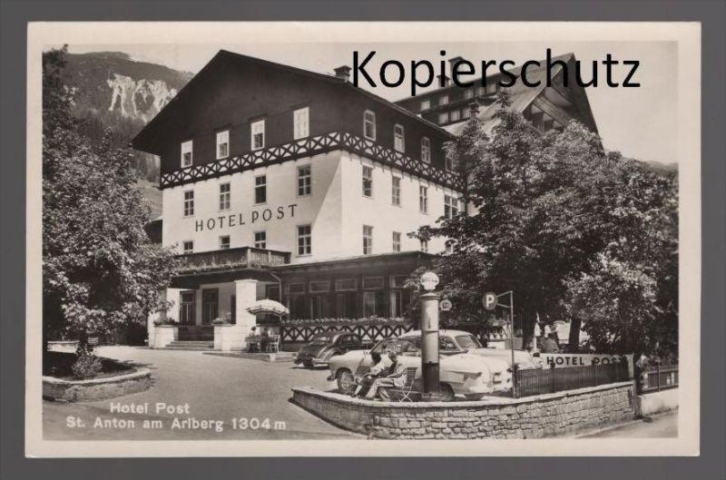 ALTE POSTKARTE ST. ANTON ARLBERG Shell Tankstelle filling station Karmann Ghia ? Ansichtskarte AK cpa postcard