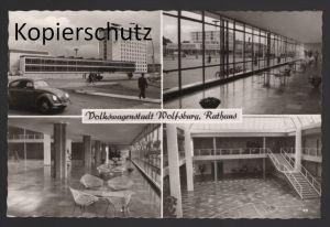 ALTE POSTKARTE VOLKSWAGENSTADT WOLFSBURG RATHAUS vw Design Stühle Stuhl chair Ansichtskarte postcard AK cpa