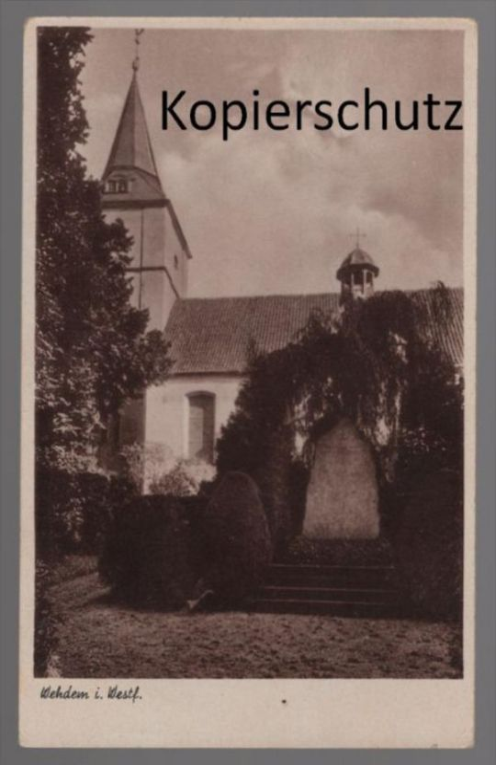 ALTE POSTKARTE WEHDEM I. WESTF. Kreis Minden-Lübbecke Denkmal monument Ansichtskarte cpa AK postcard