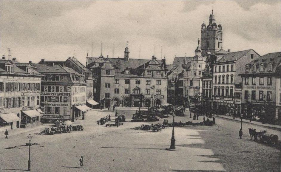 alte postkarte darmstadt einst und jetzt der marktplatz um 39 s jahr 1676 der marktplatz 1906 ak. Black Bedroom Furniture Sets. Home Design Ideas