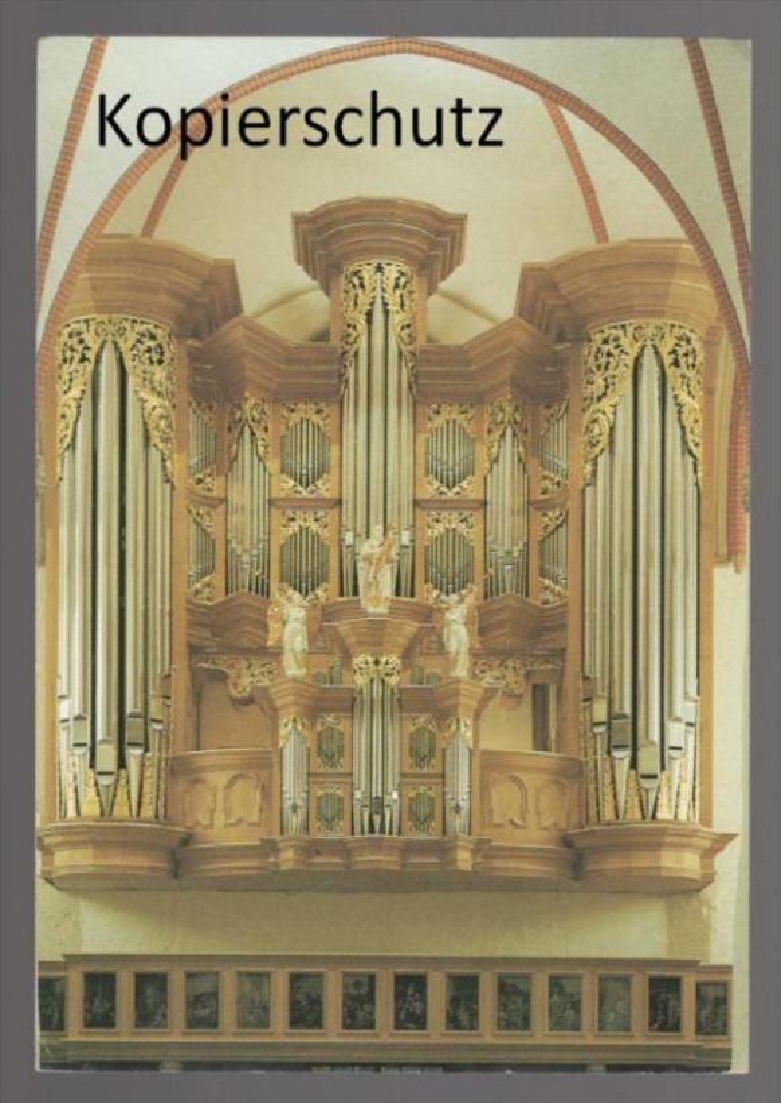 ÄLTERE POSTKARTE ARP-SCHNITGER-ORGEL ST. JACOBI HAMBURG Orgel orgue organ cpa AK Ansichtskarte postcard
