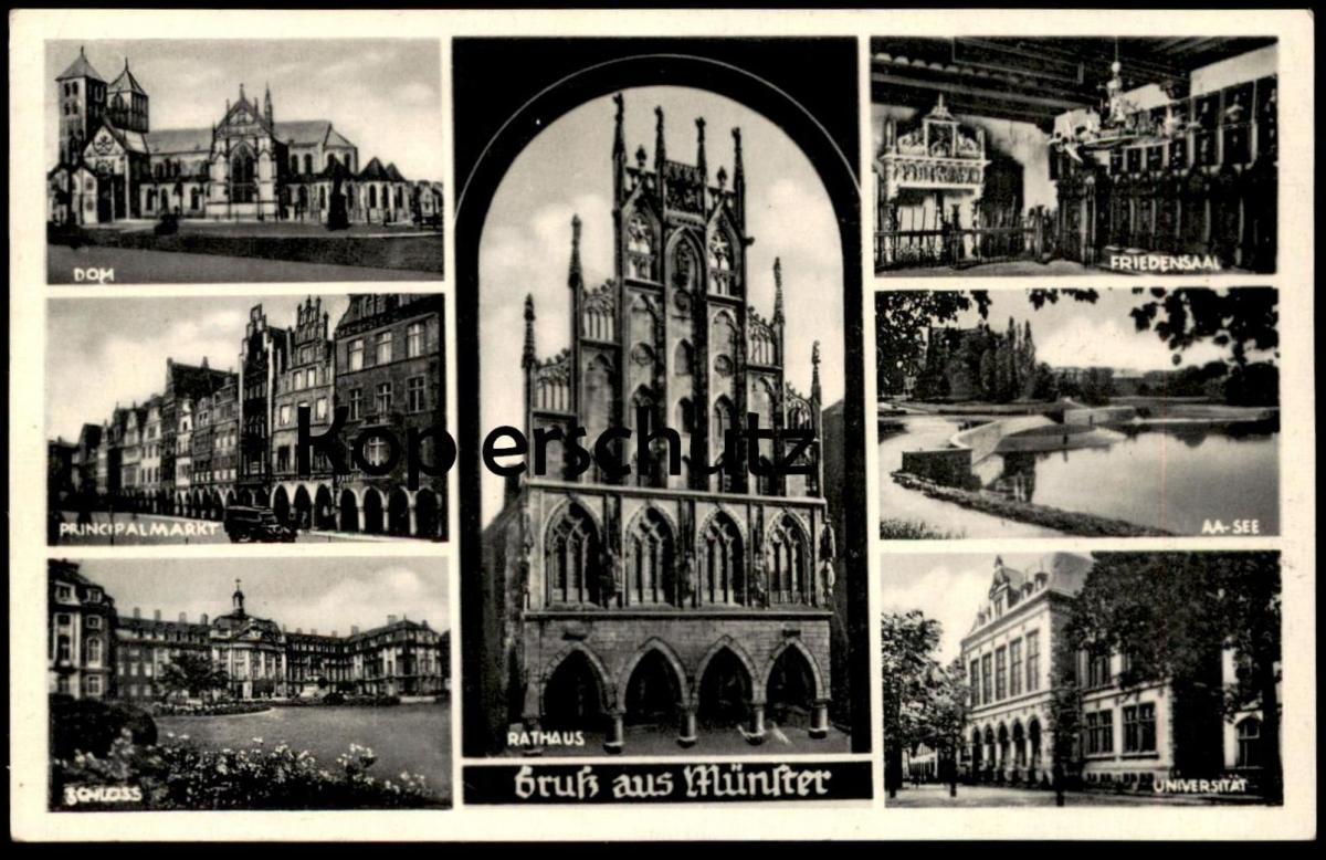 ALTE POSTKARTE GRUSS AUS MÜNSTER Mehrbild Ansichtskarte postcard cpa AK