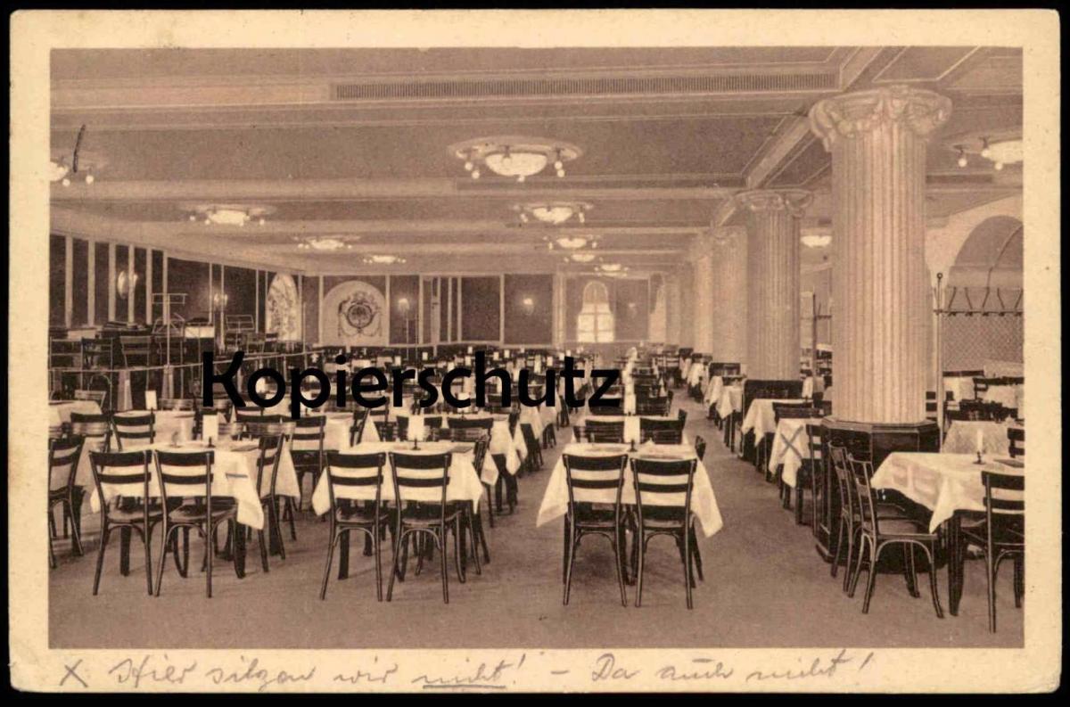 ALTE POSTKARTE MAGDEBURG ZENTRAL-THEATER-RESTAURANT Ansichtskarte postcard cpa AK