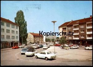 ÄLTERE POSTKARTE GÜTERSLOH I. W. BERLINER PLATZ MIT BLICK ZUM AMTSGERICHT Opel Renault R4 Ford Auto car AK Ansichtskarte