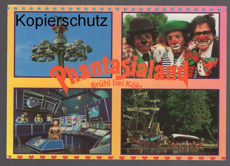 Phantasialand Karte.ältere Postkarte Phantasialand Brühl Bei Köln Freizeitpark Clown Clowns Cpa Ak Ansichtskarte Postcard