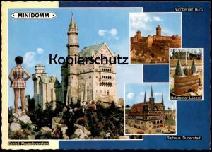 ÄLTERE POSTKARTE MINIDOMM RATINGEN-BREITSCHEID MINIATUR cpa AK Ansichtskarte postcard
