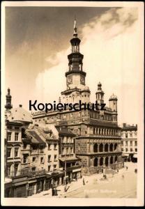 ALTE POSTKARTE POSEN RATHAUS Poznan Polska cpa AK Ansichtskarte postcard