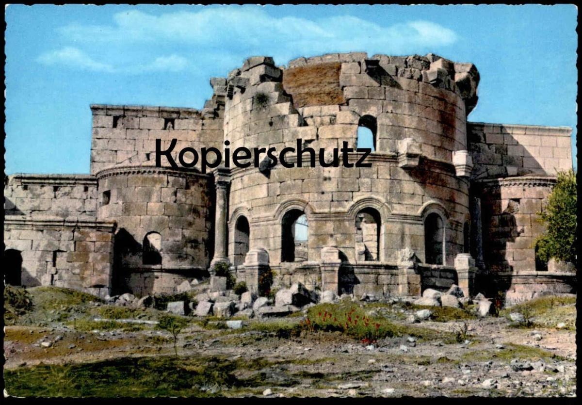 ÄLTERE POSTKARTE ALEP ST. SIMON ALEPPO THE TOWER OF ST. SIMON Syrie Syria Syrien cpa AK Ansichtskarte postcard