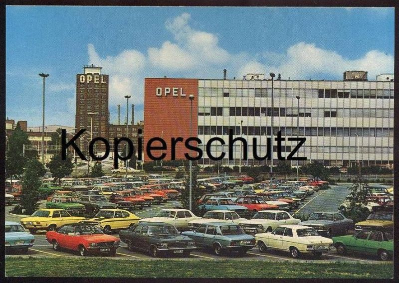 ltere postkarte opel werke r sselsheim teststrecke piste d essai test track opelwerke. Black Bedroom Furniture Sets. Home Design Ideas