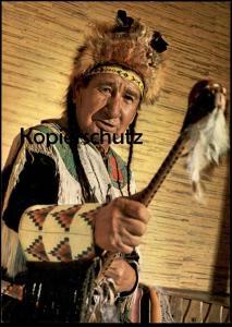 POSTKARTE MEDIZINMANN VOM SIOUX STAMM GEISTERKOPF medicine man quack Indian Indians Indien cpa AK postcard Ansichtskarte
