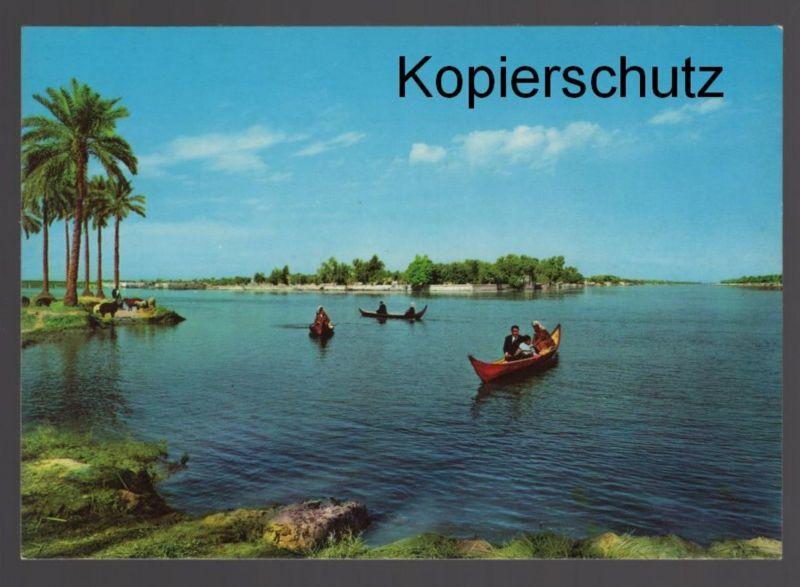 ÄLTERE POSTKARTE GARDEN OF EDEN AT GURNAH Tigris Euphrat Iraq cpa AK postcard Ansichtskarte