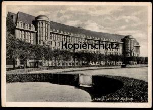 ALTE POSTKARTE LEIPZIG DEUTSCHE BÜCHEREI library bibliothèque Sonderstpempel 450 Jahre Messe Ansichtskarte cpa AK