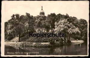 ALTE POSTKARTE BRESLAU PARTIE AN DER LIEBICHSHÖHE Wroclaw Schlesien cpa postcard AK Ansichtskarte