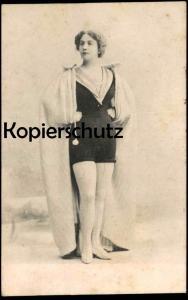 ALTE POSTKARTE FRAU IN KLEID BADEANZUG dress bathing costume? woman femme Mode postcard Ansichtskarte cpa AK
