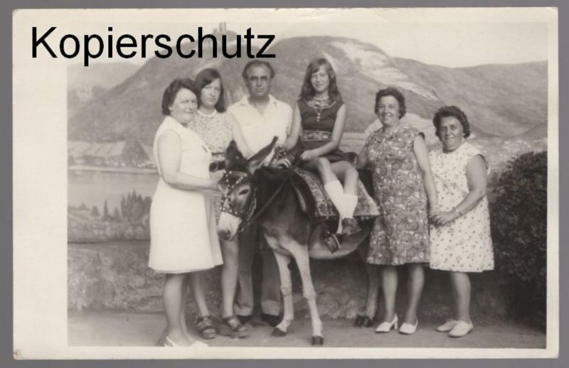 ALTES PHOTO DRACHENFELS KÖNIGSWINTER KIND ESEL child donkey âne enfant Foto postcard AK Ansichtskarte cpa