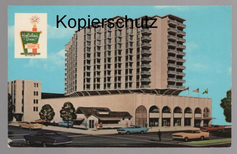 ÄLTERE POSTKARTE THE ONLY HOLIDAY INN IN BETHESDA MD. cpa postcard AK Ansichtskarte