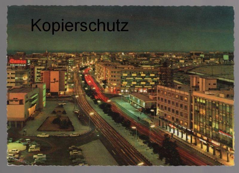ÄLTERE POSTKARTE FAHD AL-SALEM-STRASSE BEI NACHT NACHT KUWAIT at night la nuit cpa AK Ansichtskarte postcard
