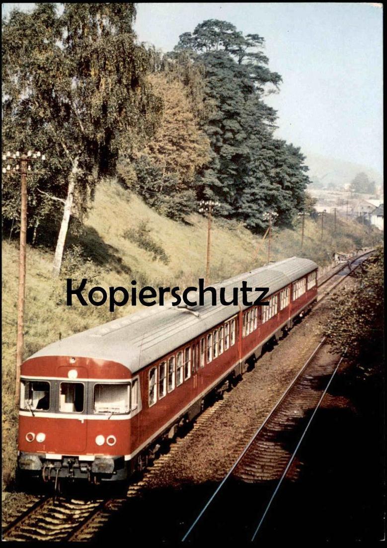 ÄLTERE POSTKARTE VT 24 TRIEBWAGEN NAHVERKEHR DEUTSCHE BUNDESBAHN Lok Zug Train Railway Eisenbahn locomotive postcard AK