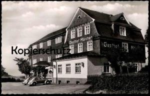 ÄLTERE POSTKARTE HOTEL-PENSION MÖRCHEN ALTASTENBERG HOCHSAUERLAND AM KAHLEN ASTEN VW Käfer Brezel Winterberg Volkswagen