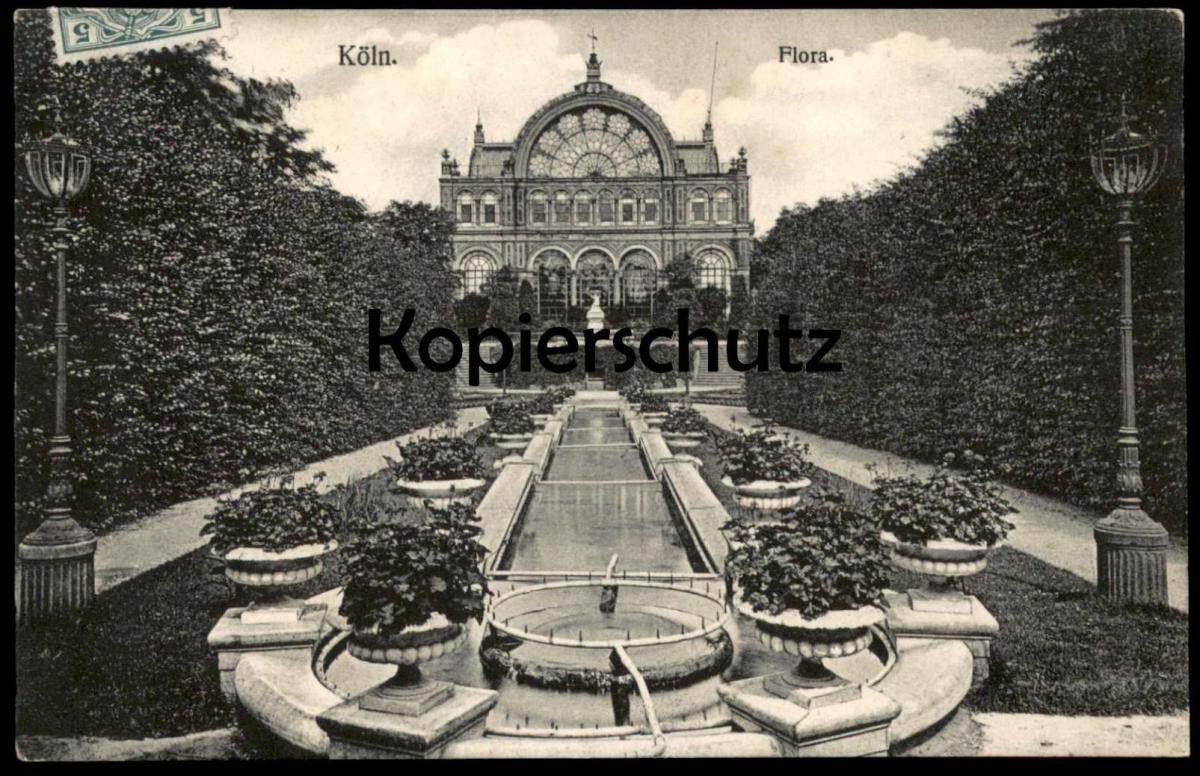 ALTE POSTKARTE KÖLN FLORA Cöln Brunnen fontaine fountain Ansichtskarte cpa AK postcard