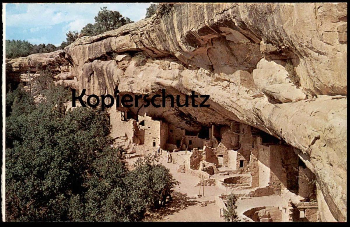 ÄLTERE POSTKARTE SPRUCE TREE HOUSE MESA VERDE NATIONAL PARK IN SOUTHWEST COLORADO postcard Ansichtskarte cpa AK