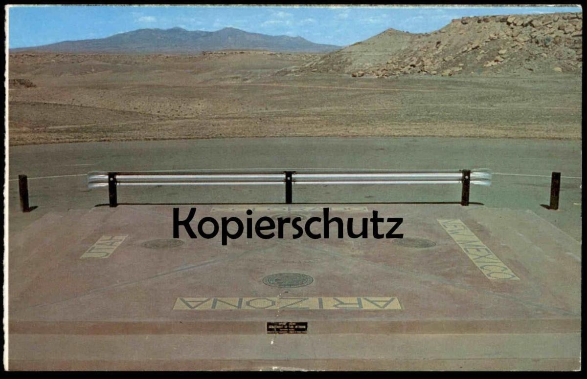 ÄLTERE POSTKARTE FOUR CORNERS MONUMENT Arizona New Mexico Utah Colorado cpa AK postcard Ansichtskarte