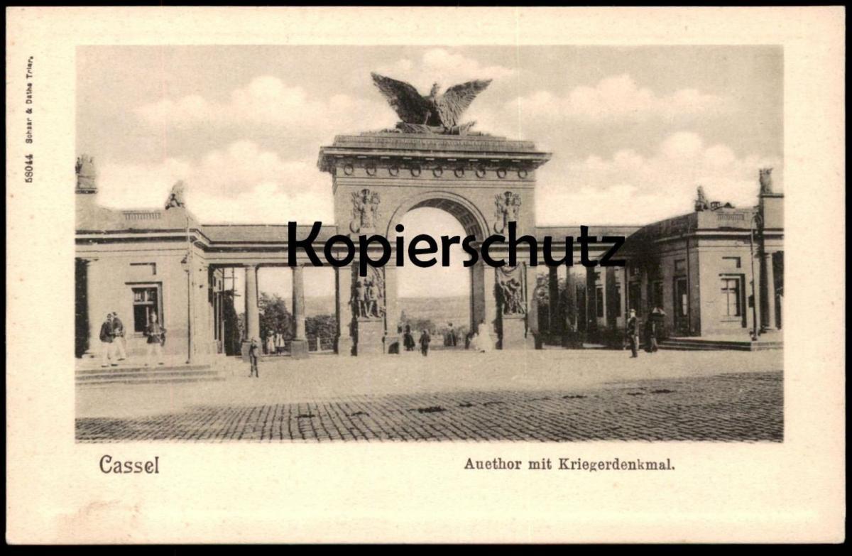ALTE POSTKARTE CASSEL AUETHOR MIT KRIEGERDENKMAL Kassel Soldat Denkmal Soldaten monument Auetor uniform cpa AK postcard