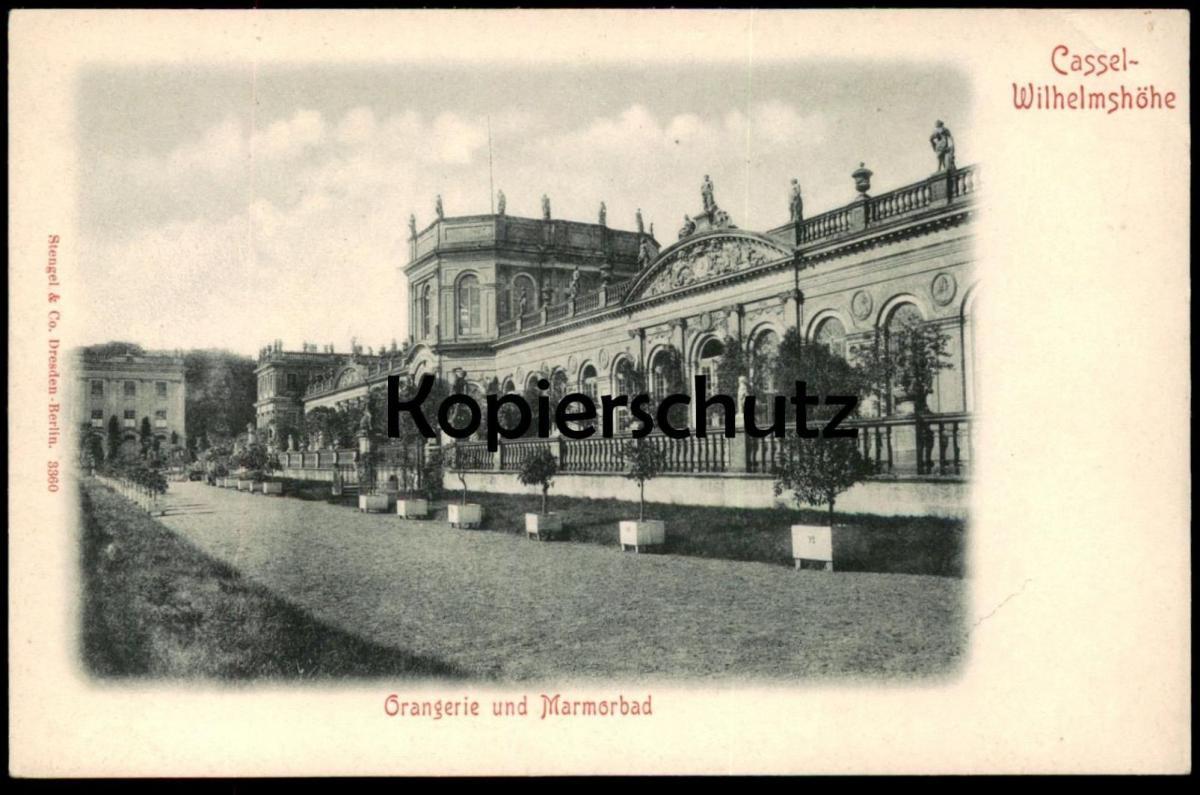 ALTE POSTKARTE CASSEL WILHELMSHÖHE ORANGERIE UND MARMORBAD Kassel AK Ansichtskarte cpa postcard
