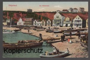 ALTE POSTKARTE HELGOLAND AM SÜDSTRAND Stempel Marinelazarett kaiserliche Marine Ansichtskarte cpa AK postcard