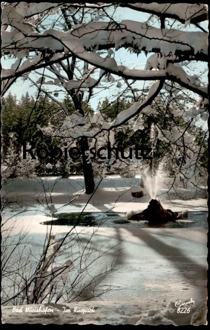 ÄLTERE POSTKARTE BAD WÖRISHOFEN IM KURPARK im Winter Schnee AK Ansichtskarte postcard cpa