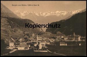 ALTE POSTKARTE BERGÜN VON SÜDEN 1380 M ÜBER M. Schweiz Suisse Helvetia Switzerland Ansichtskarte cpa postcard AK