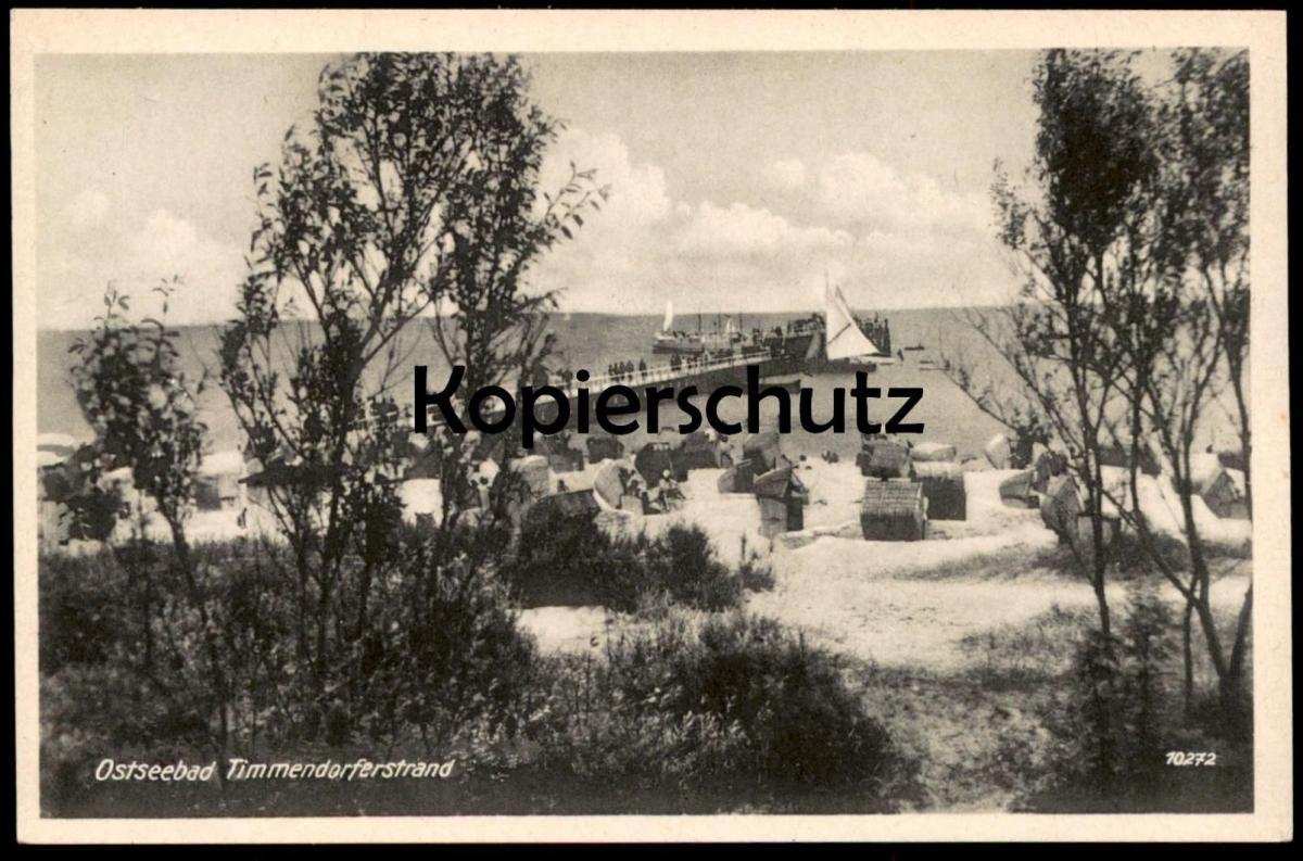 ALTE POSTKARTE OSTSEEBAD TIMMENDORFERSTRAND Strand beach plage cpa AK Ansichtskarte postcard