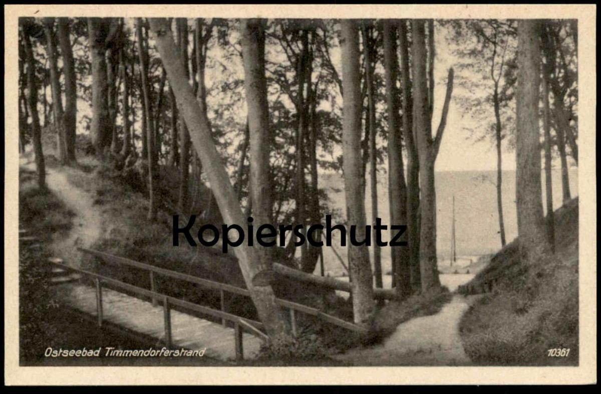 ALTE POSTKARTE OSTSEEBAD TIMMENDORFERSTRAND IN DER KAMMER cpa AK Ansichtskarte postcard