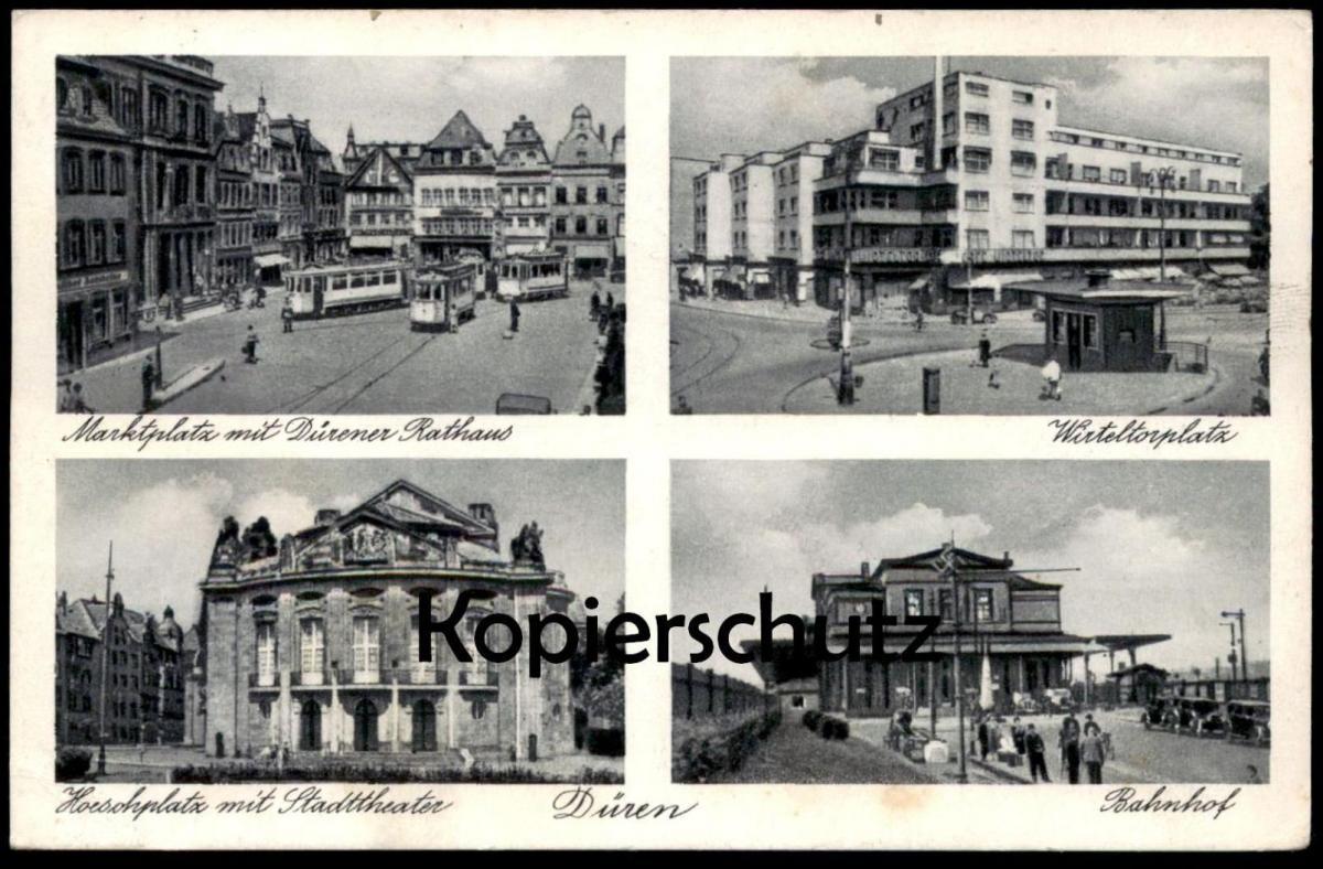 alte postkarte d ren wirteltorplatz bahnhof gare station cpa ak ansichtskarte postcard nr. Black Bedroom Furniture Sets. Home Design Ideas