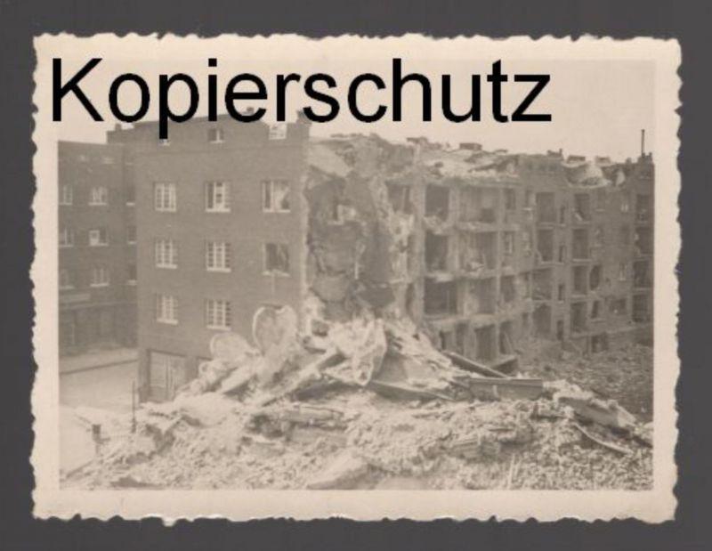 ALTES KRIEGSFOTO DÜSSELDORF Foto Photo war Zerstörung Karolingerstr. 29 8x6 cm postcard Ansichtskarte cpa AK 0