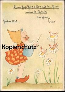 ALTE POSTKARTE AUS DER DEUTSCHEN MÄRCHENWELT DIE MEISTERSINGER Märchen fairy tale Zwerg nain midget dwarf cpa AK