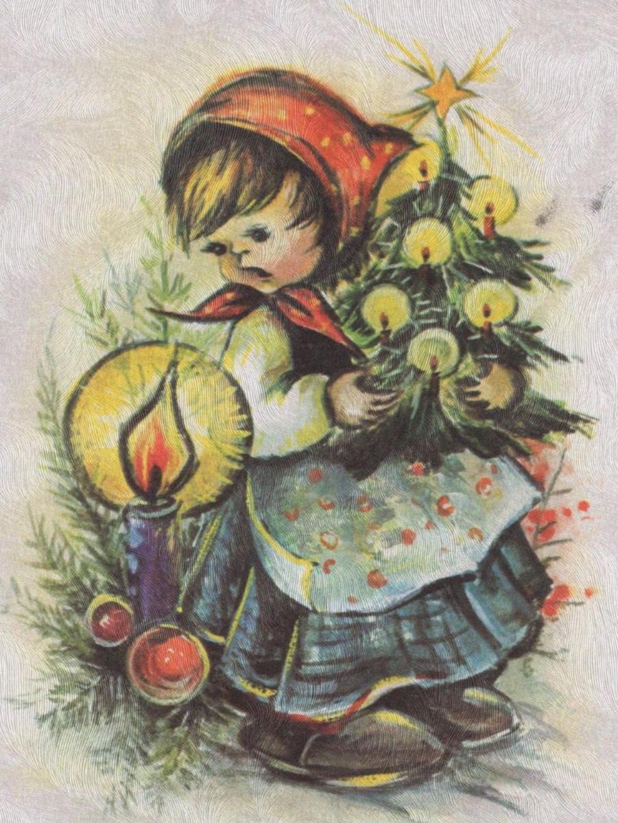 Frohe Weihnachten Und Alles Gute Im Neuen Jahr.Altere Postkarte Frohe Weihnachten Und Alles Gute Im Neuen Jahr Junge Boy Kind Seidenkarte Seidenoberflache