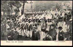 ALTE POSTKARTE BERLIN GRUSS VON DER PARADE FAHNEN-COMPAGNIE Militär military Soldaten postcard Ansichtskarte AK cpa