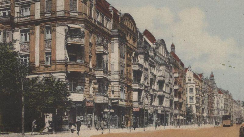 alte postkarte berlin neuk lln hermannstrasse ecke okerstrasse postcard ansichtskarte ak cpa nr. Black Bedroom Furniture Sets. Home Design Ideas