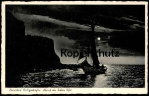 ALTE POSTKARTE OSTSEEBAD HEILIGENHAFEN ABEND AM HOHEN UFER postcard AK cpa Ansichtskarte
