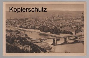 ALTE POSTKARTE WÜRZBURG TOTALE VOM KÄPPELE AUS Stempel Schönleber Bratwurstherzle postcard cpa AK Ansichtskarte