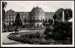 ALTE POSTKARTE WÜRZBURG RESIDENZ GARTENSEITE postcard cpa AK Ansichtskarte